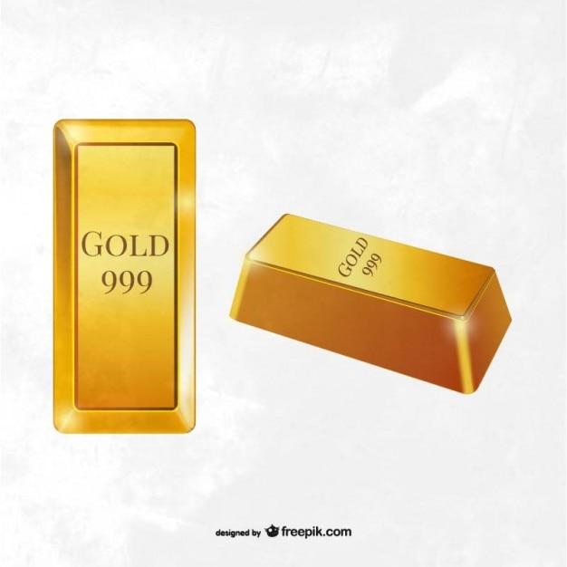 Vector barras de ouro Vetor grátis