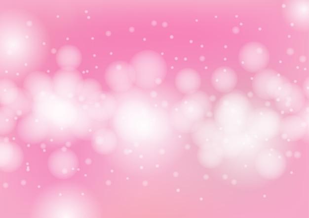 foto de Vector bokeh na ilustração de fundo rosa abstrata Vetor Premium