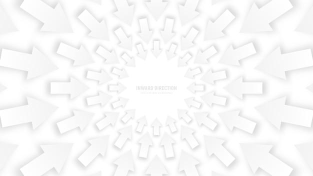 Vector branco 3d setas abstraem ilustração conceitual Vetor Premium