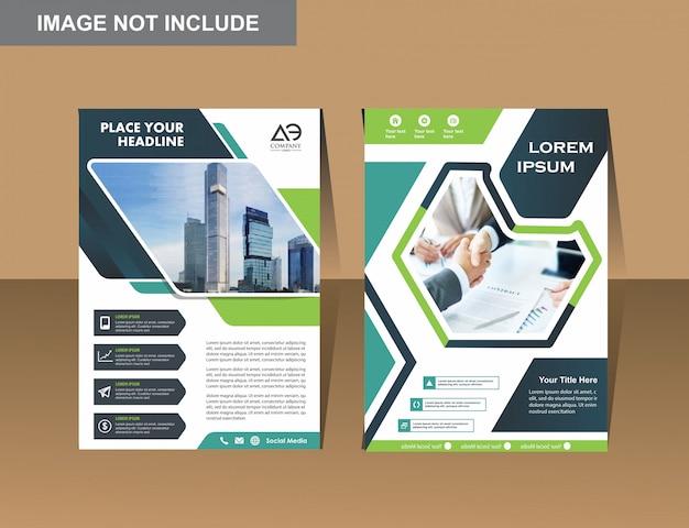 Vector business flyers design modelo de perfil da empresa Vetor Premium