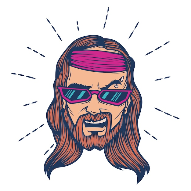 Vector cartoon ilustração de jesus. Vetor Premium