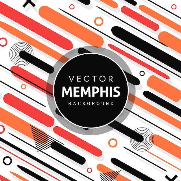 Vector colorido fundo de memphis Vetor Premium