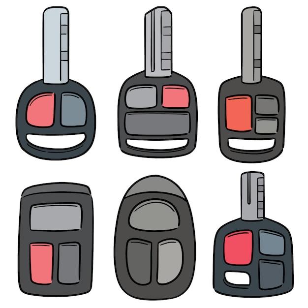 Vector conjunto de chaves do carro Vetor Premium