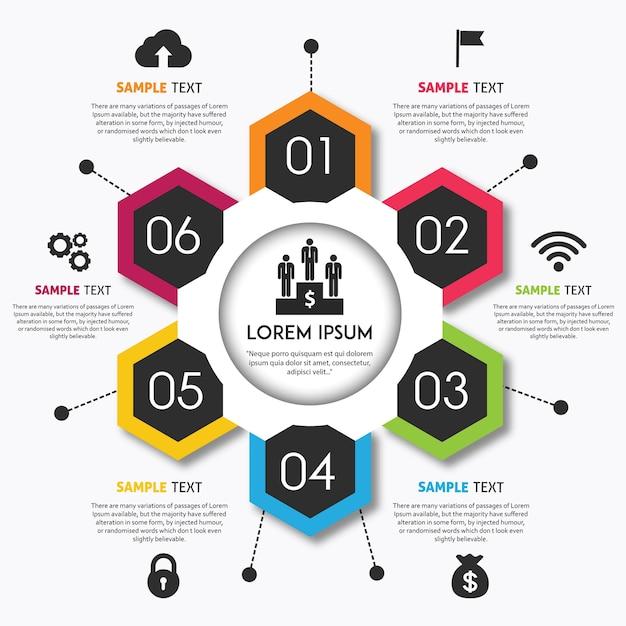 Vector design de infografia colorido Vetor grátis
