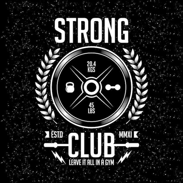 Vector design esportivo clube forte Vetor Premium