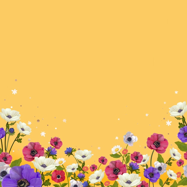 Vector design floral bonito fronteira Vetor grátis
