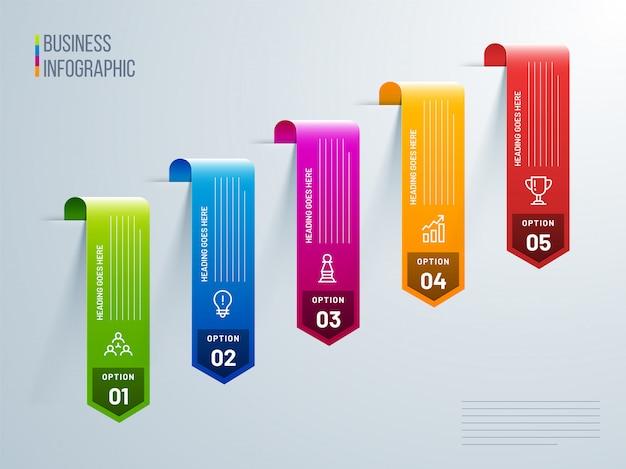 Vector design infográfico Vetor Premium