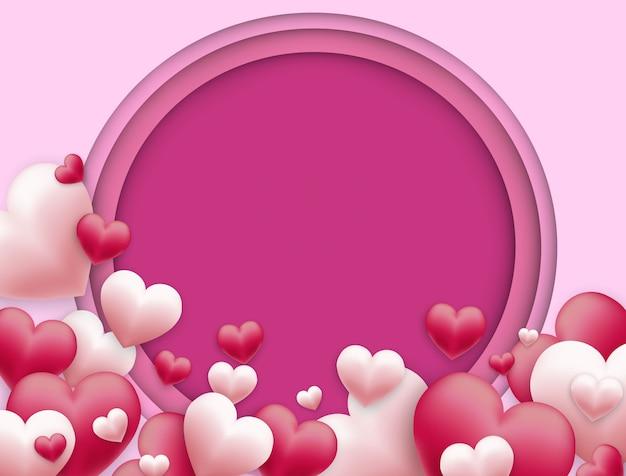Vector fundo de dia dos namorados e espaço livre para texto Vetor Premium