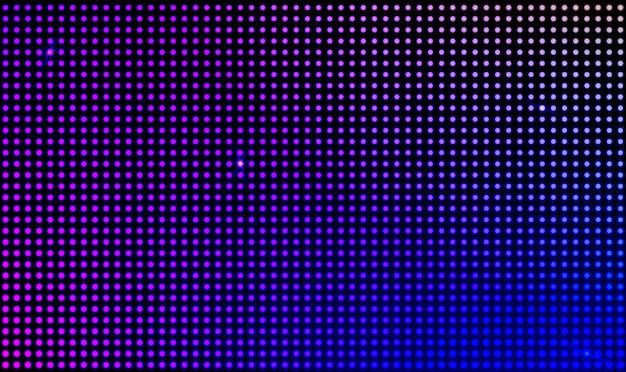 Vector levou tela de vídeo de parede com luzes de ponto Vetor grátis