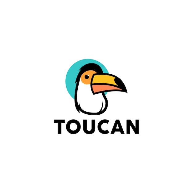 Vector logo toucan Vetor Premium