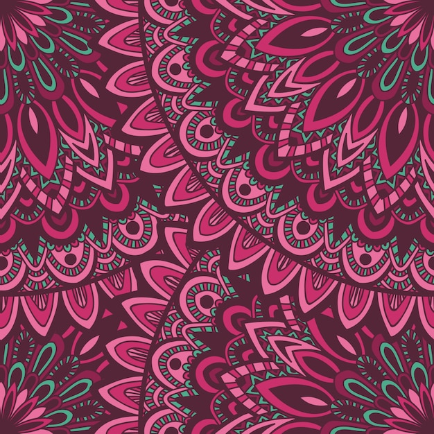 Vector natureza sem costura padrão com ornamento abstrato. Vetor Premium