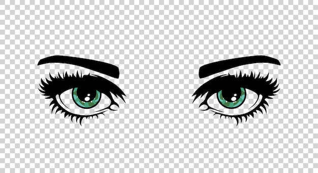 Vector olhos femininos verdes Vetor Premium