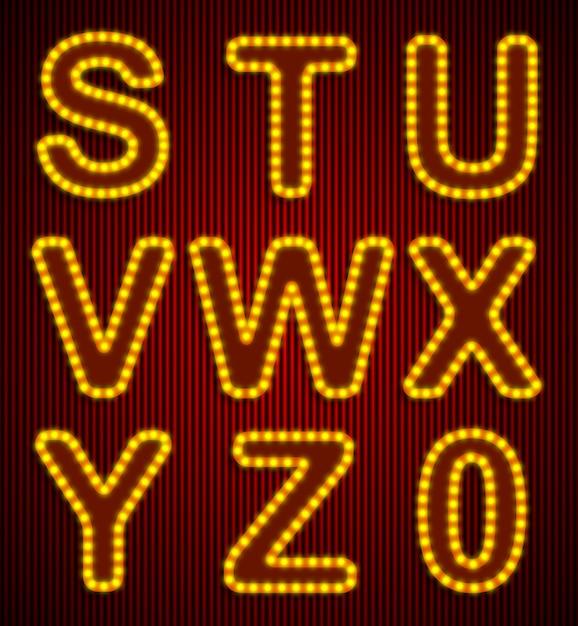 Vector retro conjunto de alfabeto. Vetor Premium