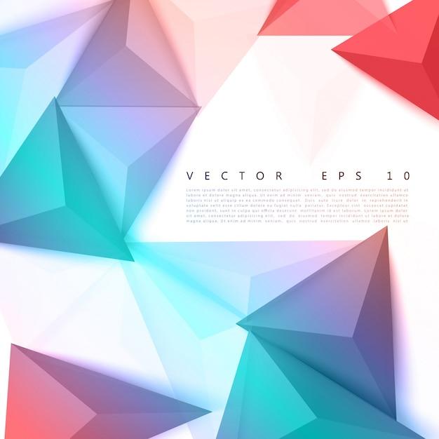 Vector triângulo de fundo abstrato de polígonos. Vetor grátis