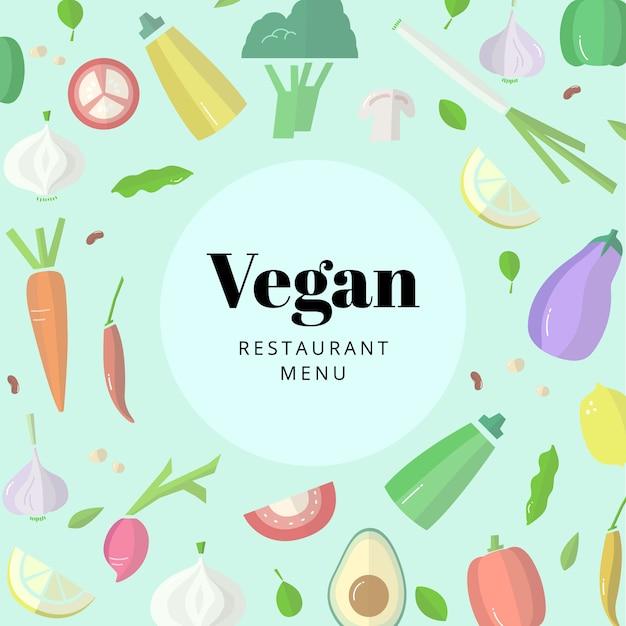 Vegan restaurant food Vetor grátis