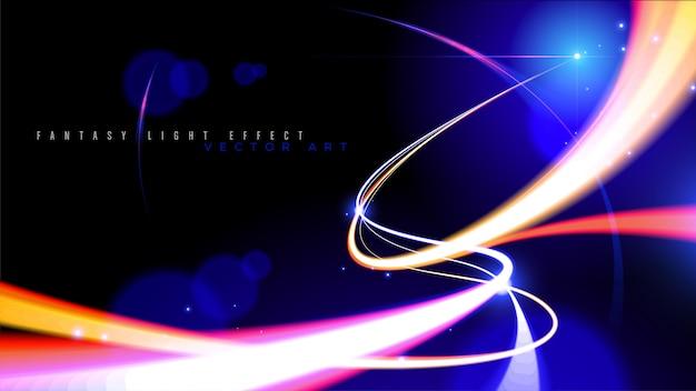 Velocidade de luz abstrata em vetor Vetor Premium