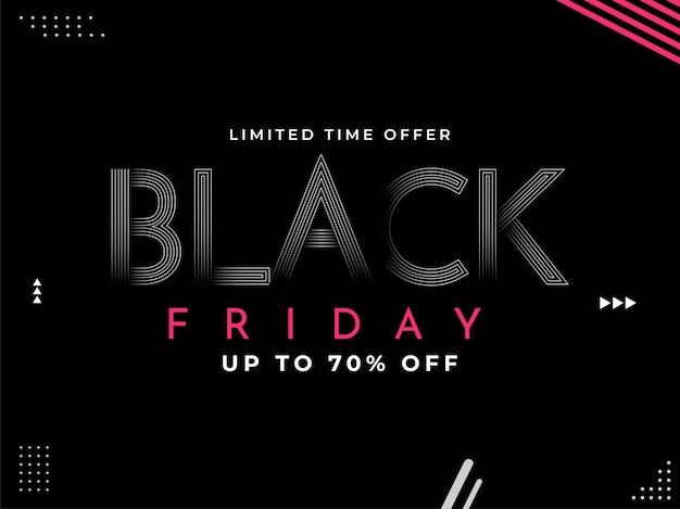 Venda da black friday por tempo limitado Vetor Premium