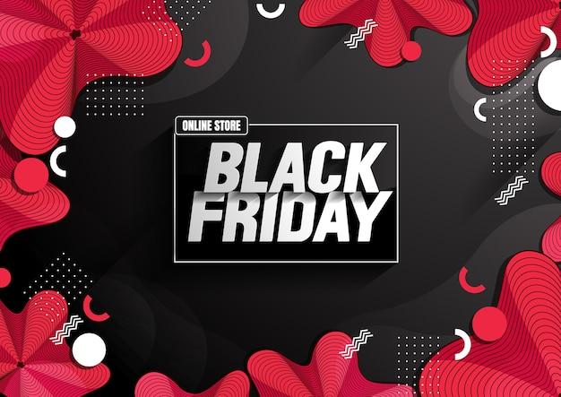 Venda da black friday. Vetor Premium