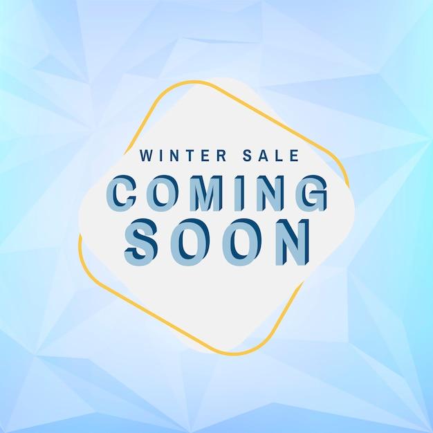 Venda de inverno em breve vector Vetor grátis