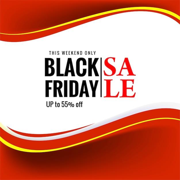 Venda de linda sexta-feira negra para banner onda vermelha Vetor grátis