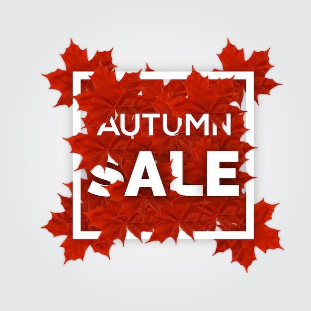 Venda de outono! Vetor Premium
