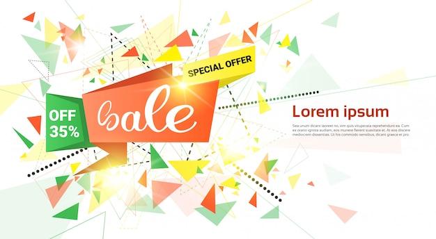 Venda de primavera comercial oferta especial holiday banner Vetor Premium