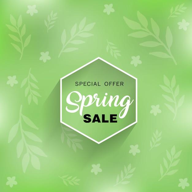 Venda de primavera de fundo Vetor Premium