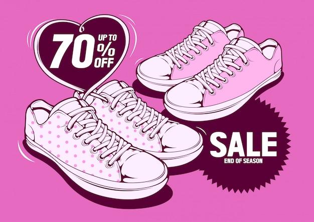 Venda de sapatos Vetor Premium