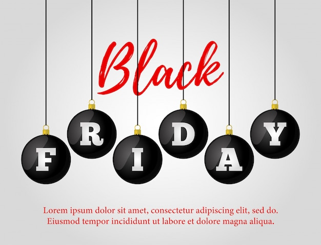 Venda de sexta-feira negra. cartaz de anúncio, banner Vetor Premium