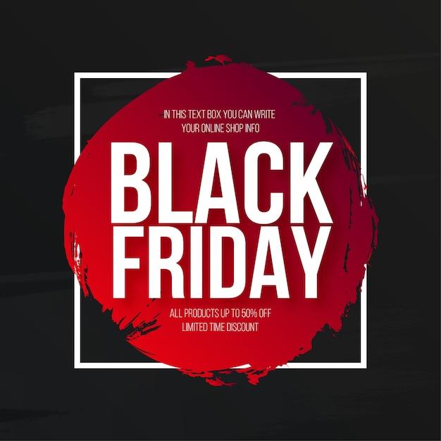 Venda de sexta-feira negra moderna com banner aquarela splash Vetor grátis