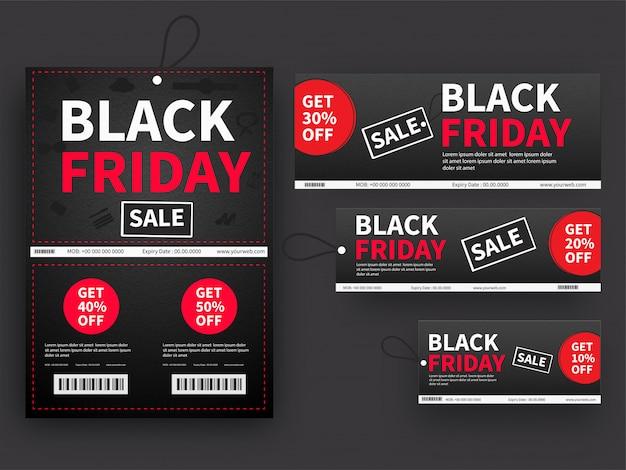 Venda de sexta-feira negra. Vetor Premium