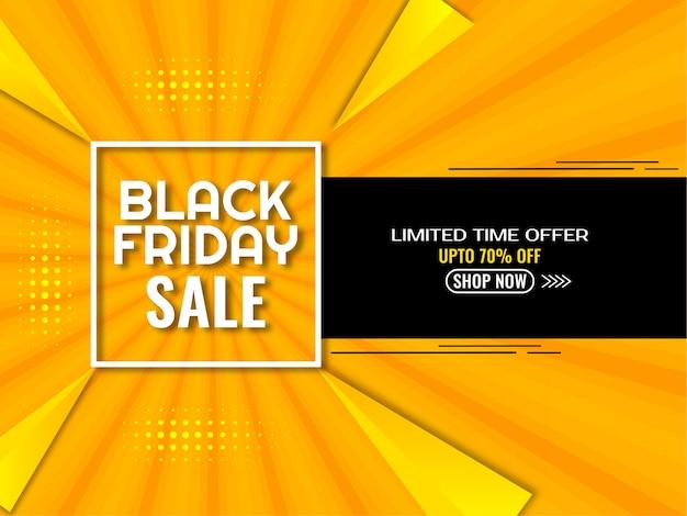 Venda de sexta feira preta com fundo amarelo e preto Vetor grátis