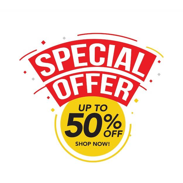 Venda e oferta especial tag, etiquetas de preço Vetor Premium