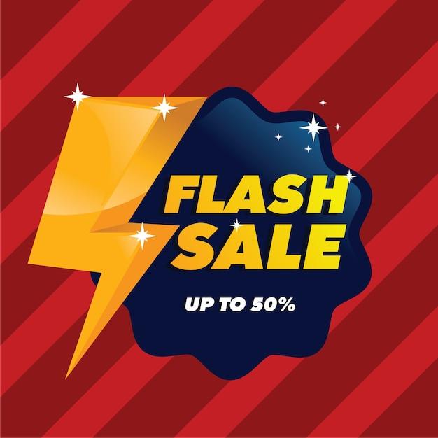 Venda flash com plano de fundo estilo Vetor Premium
