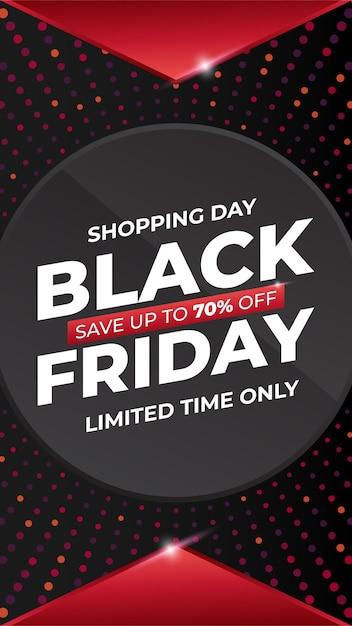 Venda social moderna black friday Vetor Premium