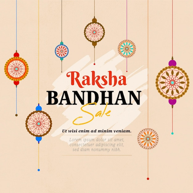 Vendas de raksha bandhan desenhadas à mão Vetor grátis