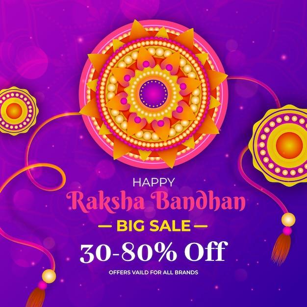 Vendas de raksha bandhan Vetor grátis
