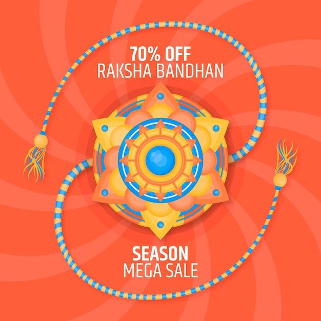 Vendas planas de raksha bandhan Vetor grátis