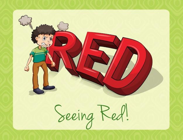 Vendo vermelho Vetor grátis
