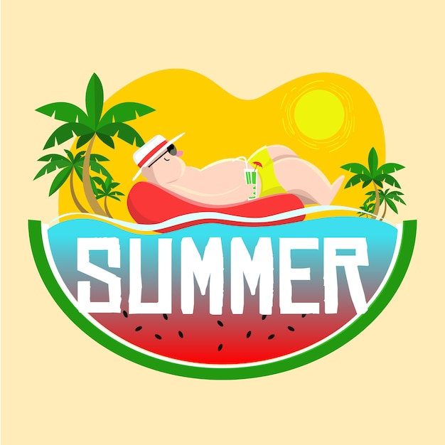 Verão e descanso Vetor Premium