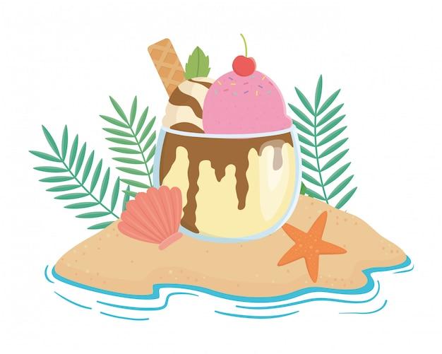 Verão e férias i Vetor Premium