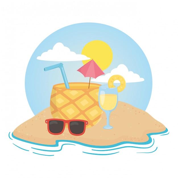 Verão e férias Vetor Premium