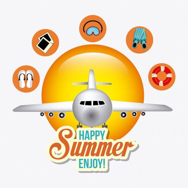 Verão, férias e viagens Vetor grátis