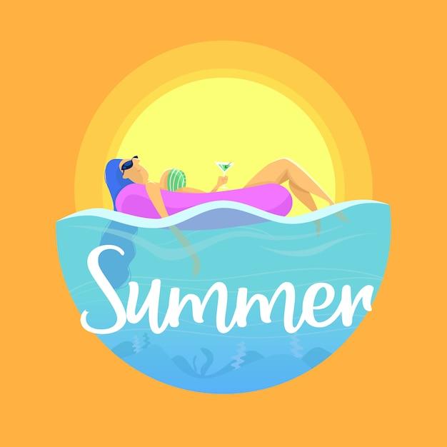 Verão Vetor Premium