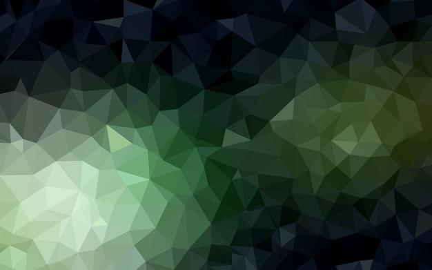 Verde escuro padrão poligonal. Vetor Premium