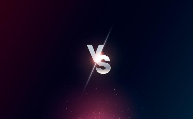Versus logo vs letras para esportes e competição de luta. batalha vs jogo, conceito de jogo competitivo Vetor Premium