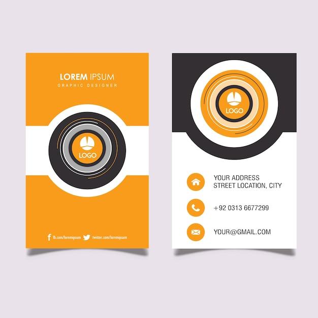 Vertical orange gray business card baixar vetores premium vertical orange gray business card vetor premium reheart Images