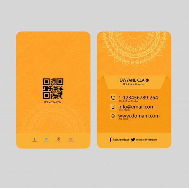 Vertical orange business card baixar vetores premium vertical orange business card vetor premium reheart Images