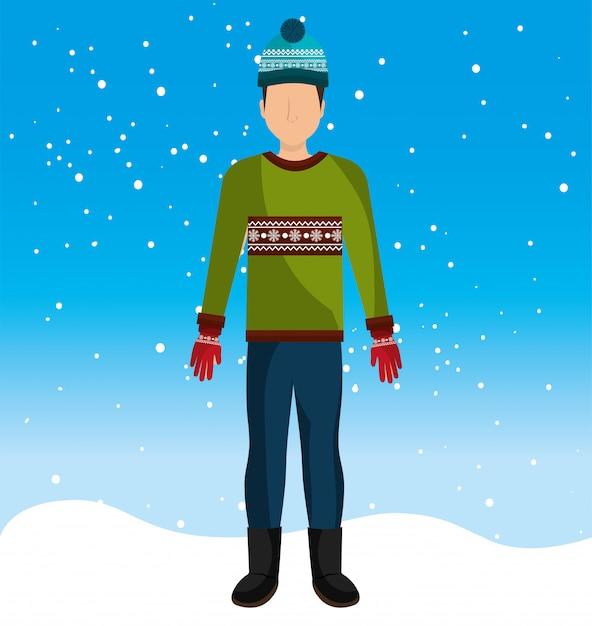 Vestuário e acessórios de moda de inverno Vetor grátis