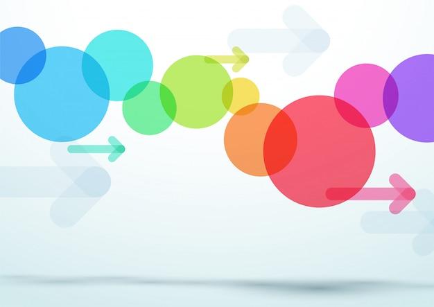 Vetor abstrato colorido círculo seta fundo Vetor Premium